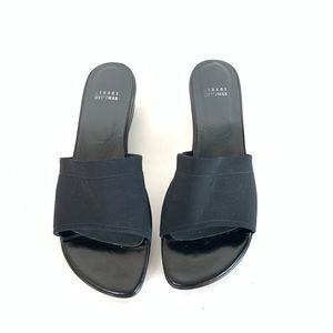 Stuart Weitzman Shoes - Stuart Weitzman Black Leather Wedge Heel Sandals